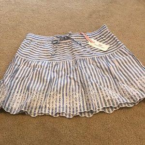 Vineyard Vines Eyelet Striped Skirt
